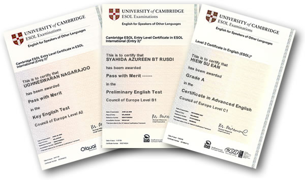 Certificati Cambridge English